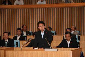 県議会本会議において一般質問