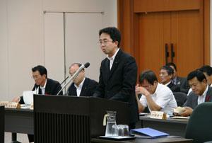 県議会予算特別委員会において一般質問