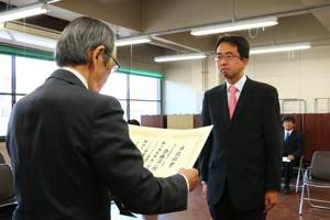 さいとう淳一郎 当選証書授与式(4月11日)