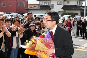 さいとう淳一郎 初登庁(4月18日)
